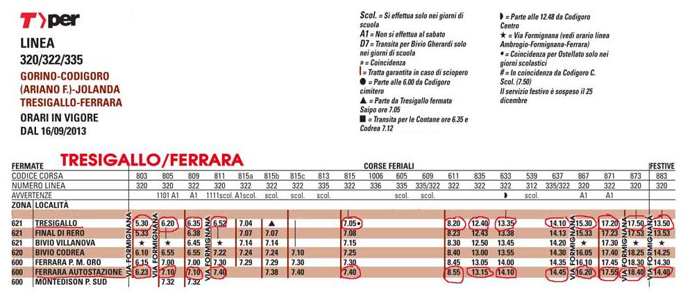 Tresigallo-Ferrara orari bus1 copia